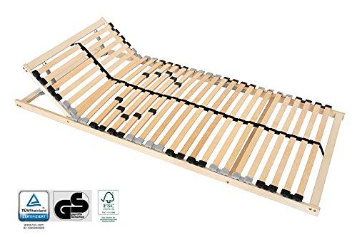 7-Zonen Lattenrost 100 x 200 cm Kopfteil und Härtegrad verstellbar - geprüft