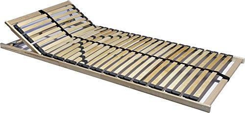 7 Zonen Lattenrost 140x200 cm, 28 Leisten, Härte- und Kopfteil verstellbar mit Mittelgurt, 180 kg - EINFÜHRUNGSPREIS (140x200 cm)