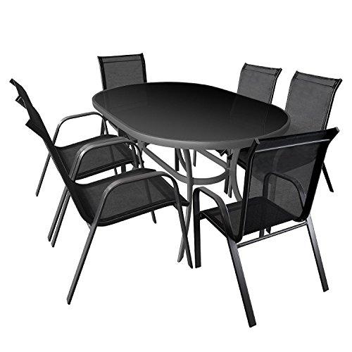 7tlg gartenm bel set gartengarnitur sitzgruppe aluminium. Black Bedroom Furniture Sets. Home Design Ideas