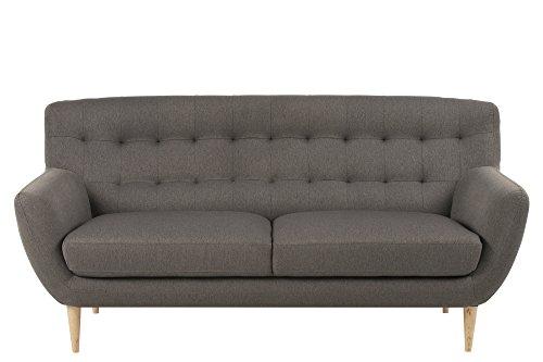 AC Design Furniture 60498 Sofa Jimmy 3-Sitzer, circa 185 x 87 x 84 cm, Stoff grau