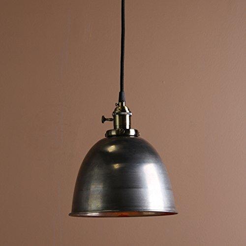 Buyee® Modern Vintage Industrial Metal Lampe Edison-Lampe Retro Lampe Shade Loft Coffee Bar Küchenhängependelleuchte Lampen Licht (Dunkelsilber)