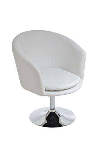 CLP Design Lounge-Sessel / Clubsessel EVAN, hoher Sitzkomfort durch dicke Polsterung (aus bis zu 6 Farben wählen) weiß