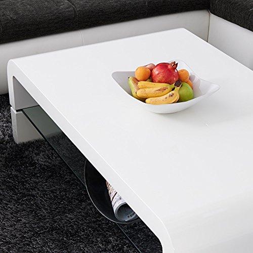 couchtisch malaga 120x70cm weiss hochglanz glas lack. Black Bedroom Furniture Sets. Home Design Ideas