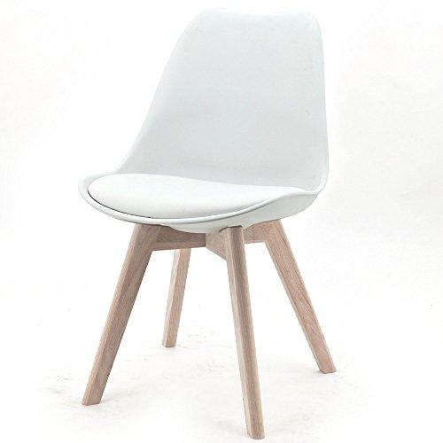 Design Stuhl RANGE Kunststoffschale Esszimmerstuhl Retro Designer Möbel Stühle (1, Weiß)