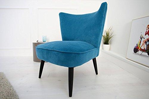 DuNord Design Sessel MARTA Samtstoff petrol