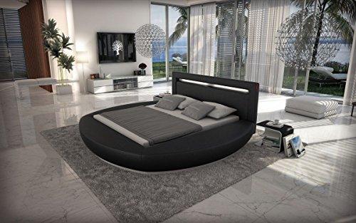 Dual Wasserbett RIVA LED Komplett Set schwarz