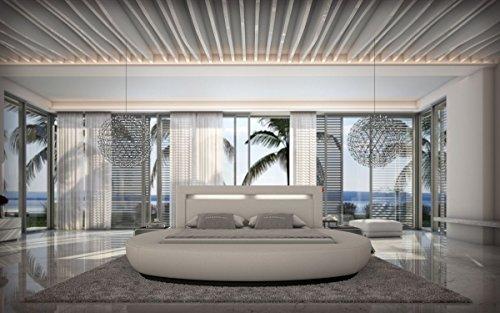 Dual Wasserbett RIVA LED Komplett Set weiss