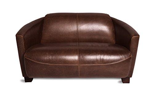 ledersofa clubsofa ledercouch lounge sofa couch zweisitzer braun antik vintage m bel24. Black Bedroom Furniture Sets. Home Design Ideas