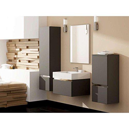 justhome cantare set ii badezimmerset badm belset waschplatz 4 teilig grau matt m bel24. Black Bedroom Furniture Sets. Home Design Ideas