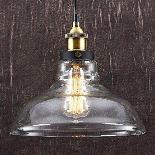 LOMT™ Deckenleuchte Vintage Retro Glas Lampe Industrie Pendelleuchte