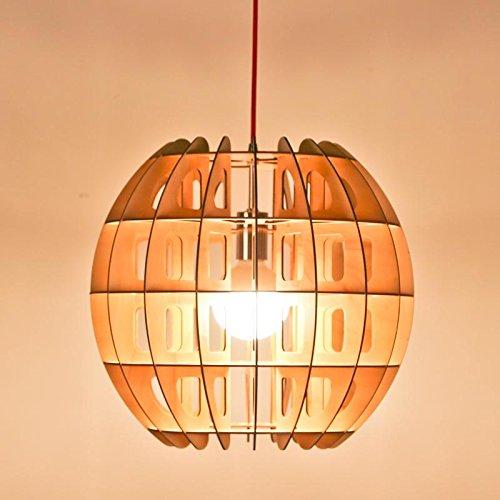 Ling@ Kreative Einfachen Massivholz Moderne LED Kronleuchter-Lampe für Wohnzimmer Kinderzimmer Schlafzimmer Esszimmer