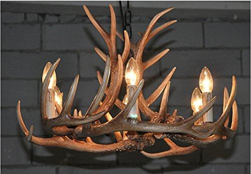 Ling@ Kreative Pastoral Geweih Kronleuchter Wohnzimmer Restaurant Bar Cafe Persönlichkeit LED Kronleuchter Beleuchtung