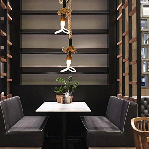 Ling@ Kreative Persönlichkeit Retro Bar-Café Hanfseil Kronleuchter Lampe leuchtet , 40w