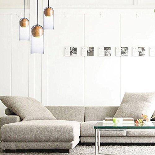 Ling@ Nordic transparente Glasflasche Kronleuchter modernen minimalistischen Holzeinzelkopfkreativen Künste hängende Beleuchtung , 60w