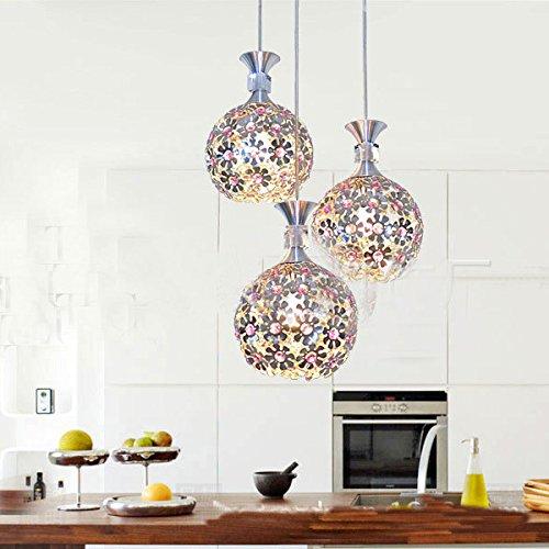 Ling@ Restaurant Kronleuchter moderne minimalistische Mode künstlerische drei AluminiumpendelleuchtenBeleuchtung der Esszimmer Kronleuchter LED-