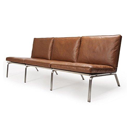norr 11 man lounge 3 sitzer ledersofa cognac braun. Black Bedroom Furniture Sets. Home Design Ideas