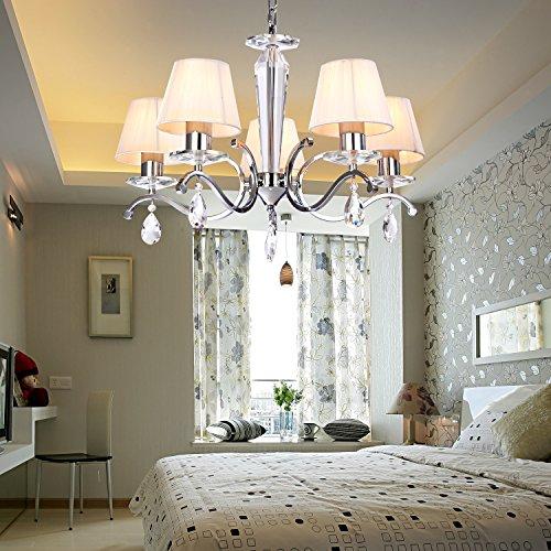 OOFAY LIGHT Moderne kreative Eisen- Esszimmer Wohnzimmer Schlafzimmer Kristall-Kronleuchter mit 5 Licht