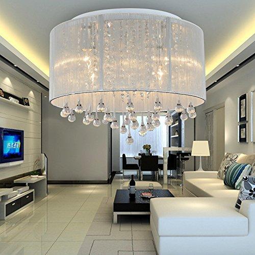 OOFAY LIGHT® einfache und graziöse 6 Stücke-Kristall-Deckenlampe stilvolle Kristall-Deckenlampe für Wohnzimmer Kristall-Deckenlampe für Schlafzimmer