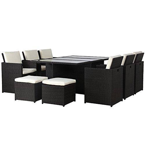 poly rattan lounge gartenset schwarz garnitur polyrattan alu kein bausatz m bel24. Black Bedroom Furniture Sets. Home Design Ideas