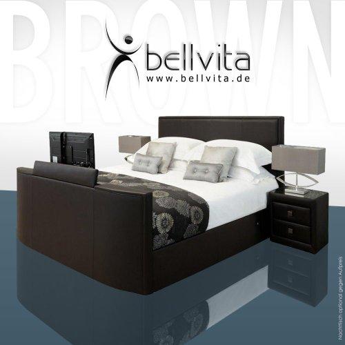 SONDERAKTION! bellvita LUXUS Wasserbett Mesamoll II mit ECHTLEDER-Bettrahmen und versenkbarem Flatscreen TV inkl. Montage (chocolate dunkelbraun, 200cm x 220cm)