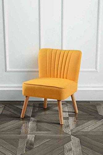 """Sessel, Hochwertig gepolstert, Farbton: Oyster Orange, Retro-Stuhl, Design """"Lola"""""""