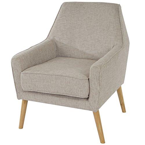 Sessel Malmö T372, Loungesessel Polstersessel, Retro 50er Jahre Design, Textil ~ grau