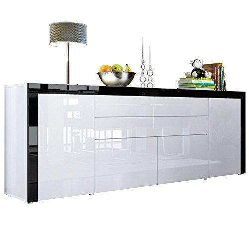 m bel24 sideboard kommode la paz v2 in wei hochglanz. Black Bedroom Furniture Sets. Home Design Ideas
