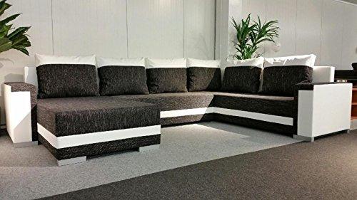 Sofa Couchgarnitur Couch Sofagarnitur TUNIS U Polstergarnitur Polsterecke Wohnlandschaft mit Schlaffunktion