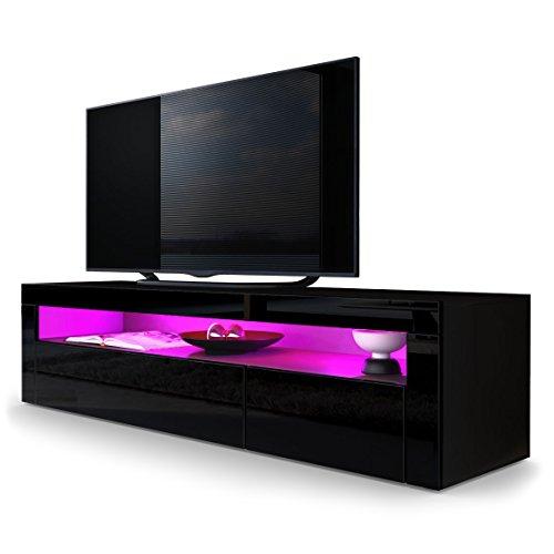 tv board lowboard valencia in schwarz matt schwarz. Black Bedroom Furniture Sets. Home Design Ideas
