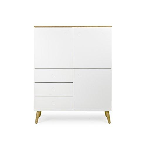 tenzo 1666 454 dot designer schrank holz wei eiche 43 x 109 x 137 cm m bel24. Black Bedroom Furniture Sets. Home Design Ideas