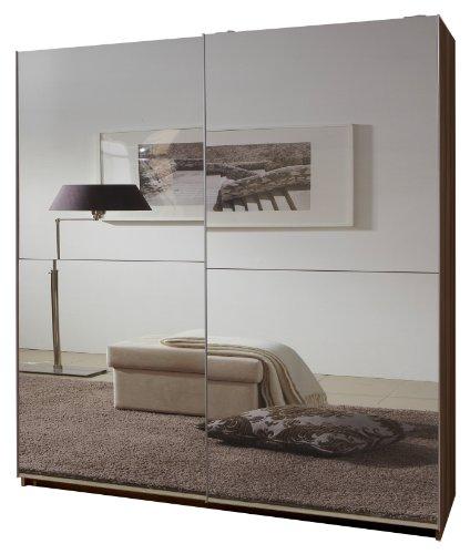 Wimex 060773 Schwebetürenschrank 198 x 135 x 64 cm, Französisch-Nußbaum-Nachbildung, Front vollverspiegelt