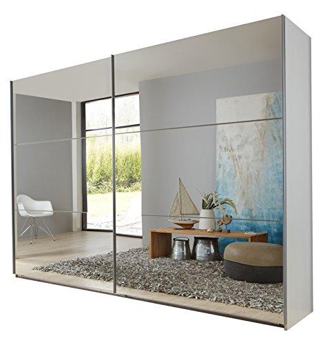 Wimex 974810 Schwebetürenschrank, 225 x 236 x 65 cm, korpus alpinweiß / front spiegel