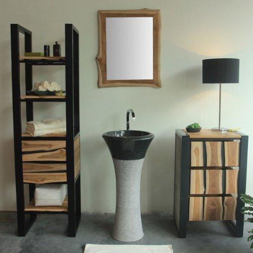 wohnfreuden marmor waschtischs ule tulip pedestal 45 cm. Black Bedroom Furniture Sets. Home Design Ideas