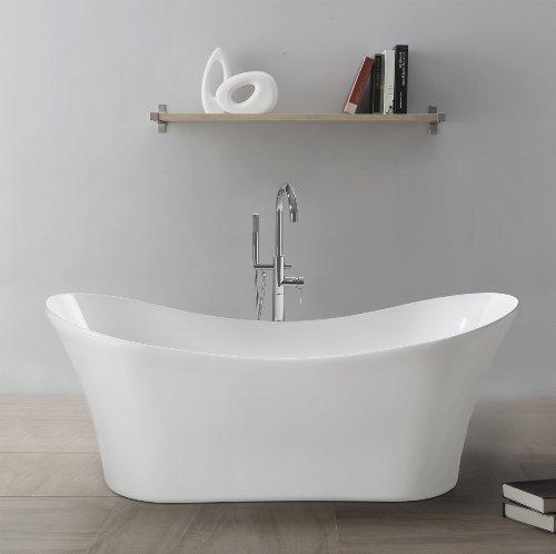 """perfect-spa Freistehende Badewanne """"Prag"""" Wanne inkl. Ab- und Überlauf"""