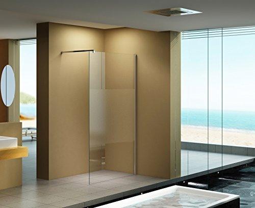 120 200 cm duschabtrennung lily frost mitte milchglas klarglas duschwand walk in dusche. Black Bedroom Furniture Sets. Home Design Ideas