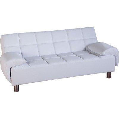 3-Sitzer Schlafsofa Reni Polsterfarbe: Weiß
