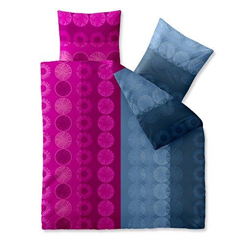 3-teilige Sommer-Bettwäsche   4 Jahreszeiten 200 x 200 cm   Mikrofaser 3 tlg.   CelinaTex Harmony 0002714   Emmy pink grau
