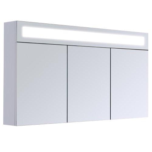 3D Spiegelschrank Wandspiegel Badschrank inkl. LED Beleuchtung 120cm