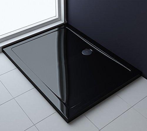 80x100x4 cm design duschtasse faro2b in schwarz duschwanne acrylwanne m bel24. Black Bedroom Furniture Sets. Home Design Ideas