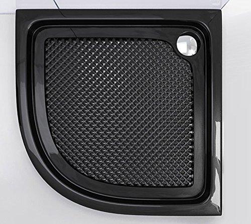 90x90x6 cm design duschtasse faro3bar in schwarz mit anti rutsch profil duschwanne acrylwanne. Black Bedroom Furniture Sets. Home Design Ideas