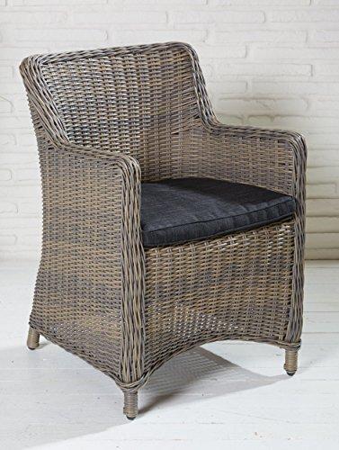 8x Hochwertiger Polyrattan Gartenstuhl Sessel Rattan Stuhl Gartenstühle Gartenmöbel Gartensessel Loungesessel Relaxsessel Positiosstuhl Gartenstühle Balkonstuhl