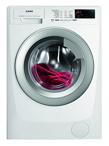 AEG LAVAMAT L69670VFL Waschmaschine FL / A+++ / 171 kWh/ Jahr / 1600 UpM / 7 kg / 9499 L/ Jahr / AquaControl / Tür silber / weiß