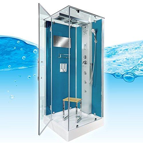 AcquaVapore DTP6038-2102L Dusche Dampfdusche Duschtempel Duschkabine 100x100, EasyClean Versiegelung der Scheiben:2K Scheiben Versiegelung +99.-EUR