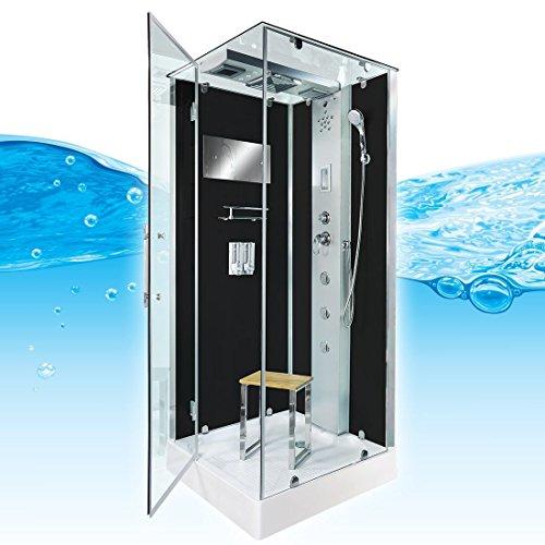 AcquaVapore DTP6038-2302L Dusche Dampfdusche Duschtempel Duschkabine 100x100, EasyClean Versiegelung der Scheiben:2K Scheiben Versiegelung +99.-EUR