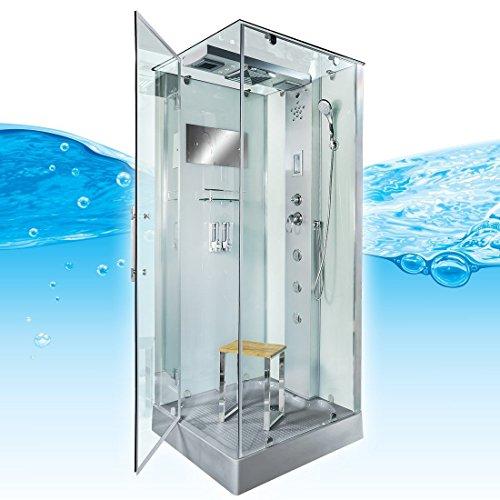 AcquaVapore DTP6038-4003L Dusche Dampfdusche Duschtempel Duschkabine -Th. 100x100, EasyClean Versiegelung der Scheiben:2K Scheiben Versiegelung +99.-EUR