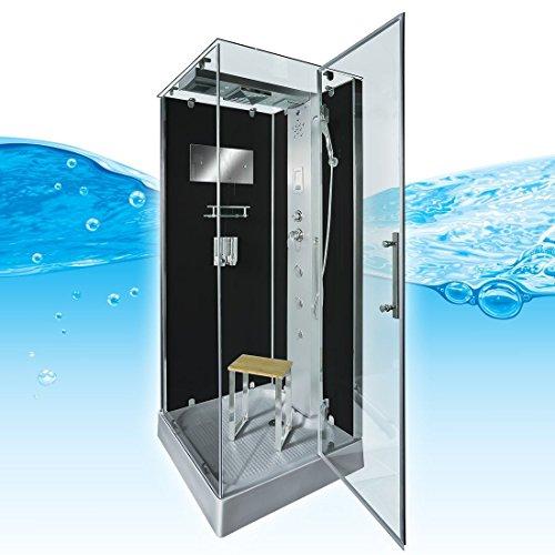 AcquaVapore DTP6038-4302R Dusche Dampfdusche Duschtempel Duschkabine 100x100, EasyClean Versiegelung der Scheiben:2K Scheiben Versiegelung +99.-EUR