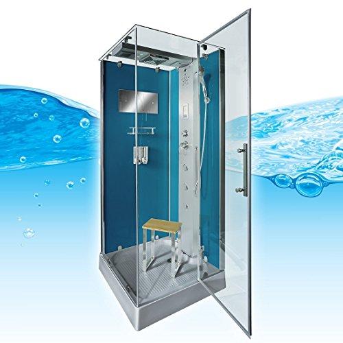AcquaVapore DTP6038-8102R Dusche Dampfdusche Duschtempel Duschkabine 80x80, EasyClean Versiegelung der Scheiben:2K Scheiben Versiegelung +99.-EUR