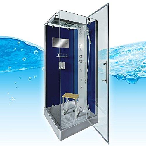 AcquaVapore DTP6038-8203R Dusche Dampfdusche Duschtempel Duschkabine -Th. 80x80, EasyClean Versiegelung der Scheiben:2K Scheiben Versiegelung +99.-EUR