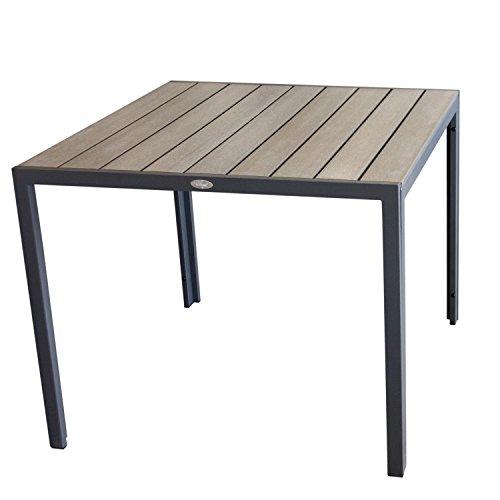aluminium gartentisch 90x90cm esszimmertisch esstisch k chentisch alutisch aluminiumtisch mit. Black Bedroom Furniture Sets. Home Design Ideas