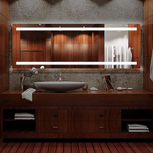 Arezzo - NEON Badspiegel mit Beleuchtung + Kippschalter - (B) 100 cm x (H) 70 cm